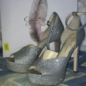 Silver Sparkle High Heels